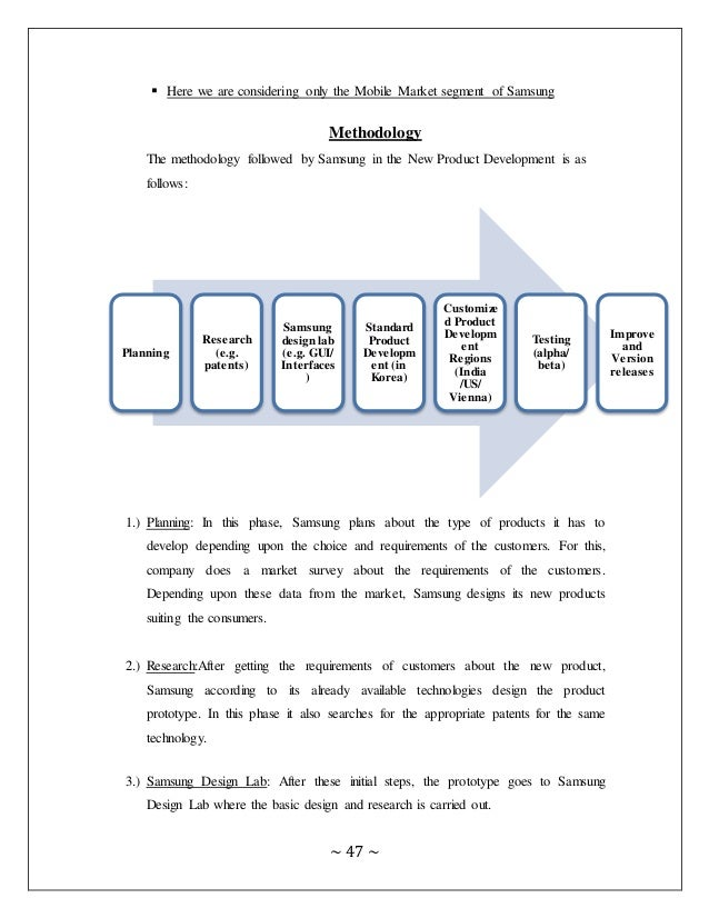 New product development strategy of samsung for Product development corporation