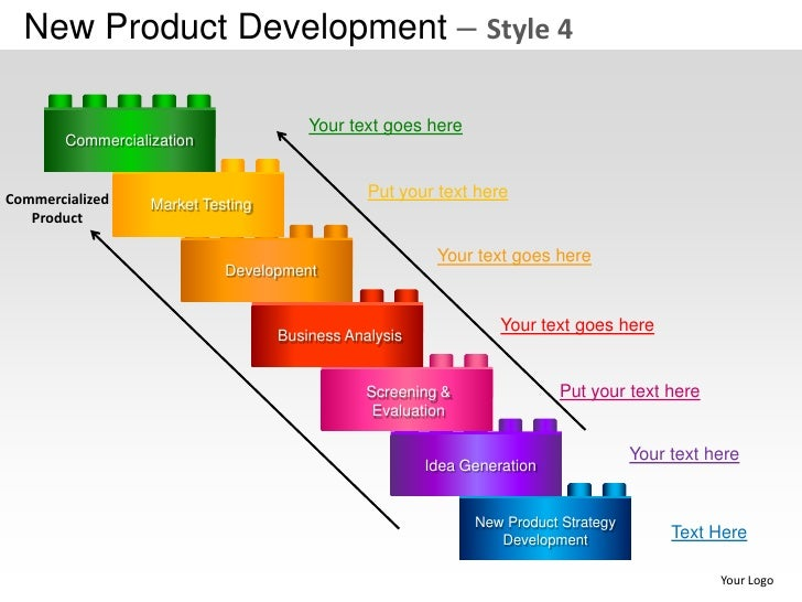 New product development strategy style 4 powerpoint for Company product development