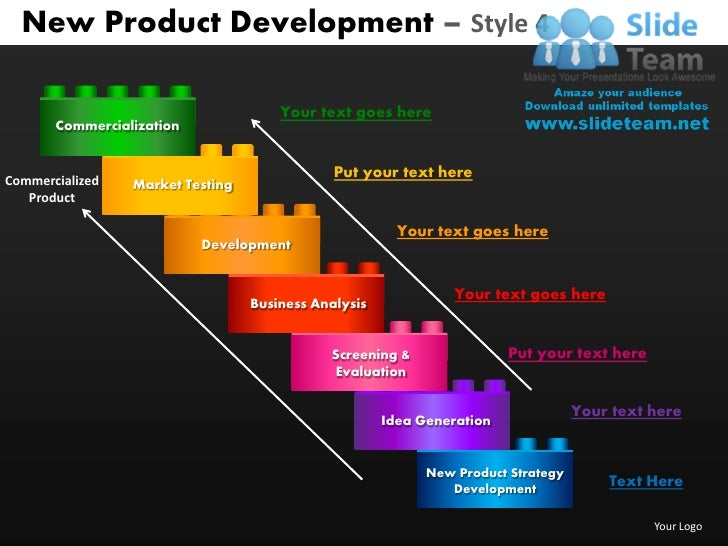New product development style 4 powerpoint presentation slides db ppt new product development toneelgroepblik Image collections