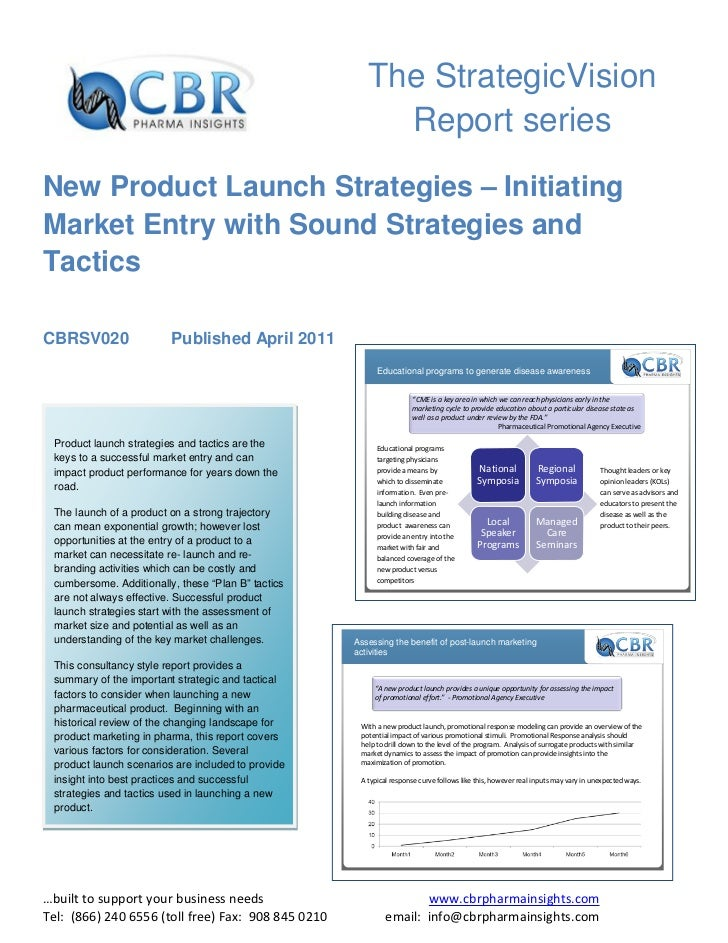 A report on new product launch
