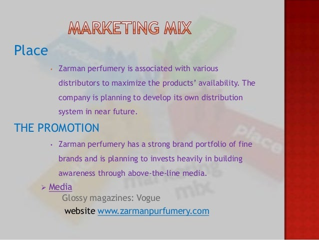 Marketing mix perfume