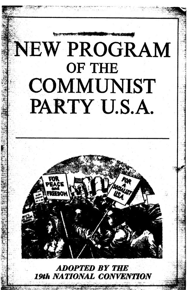 New program of_the_communist_party_usa-19th_convention