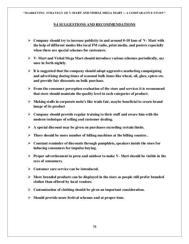 Dissertation project on marketing