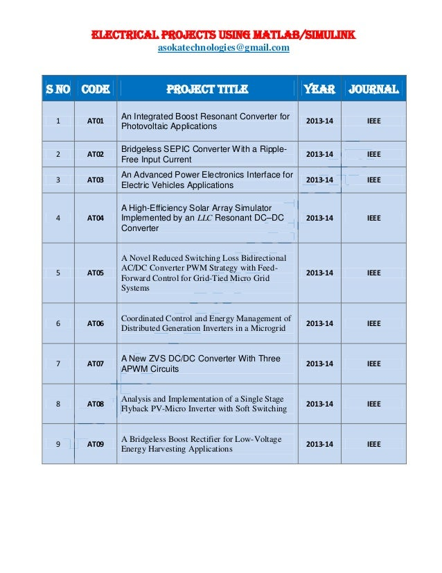 ieee projects for eee on power systems free download