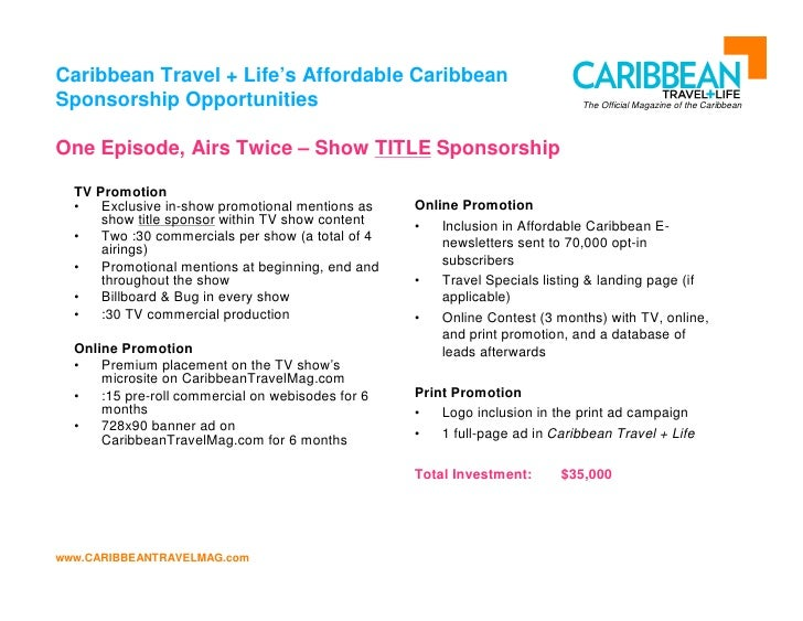 New Proposal For Caribbean Travel Channel