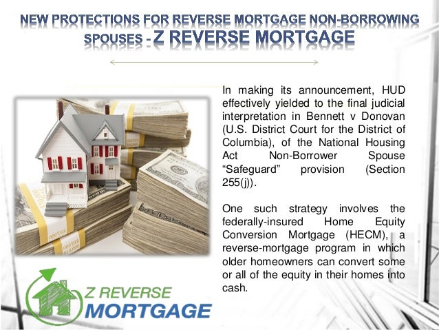 New Protections For Reverse Mortgage Non-Borrowing Spouses - Z Reverse Mortgage Slide 3