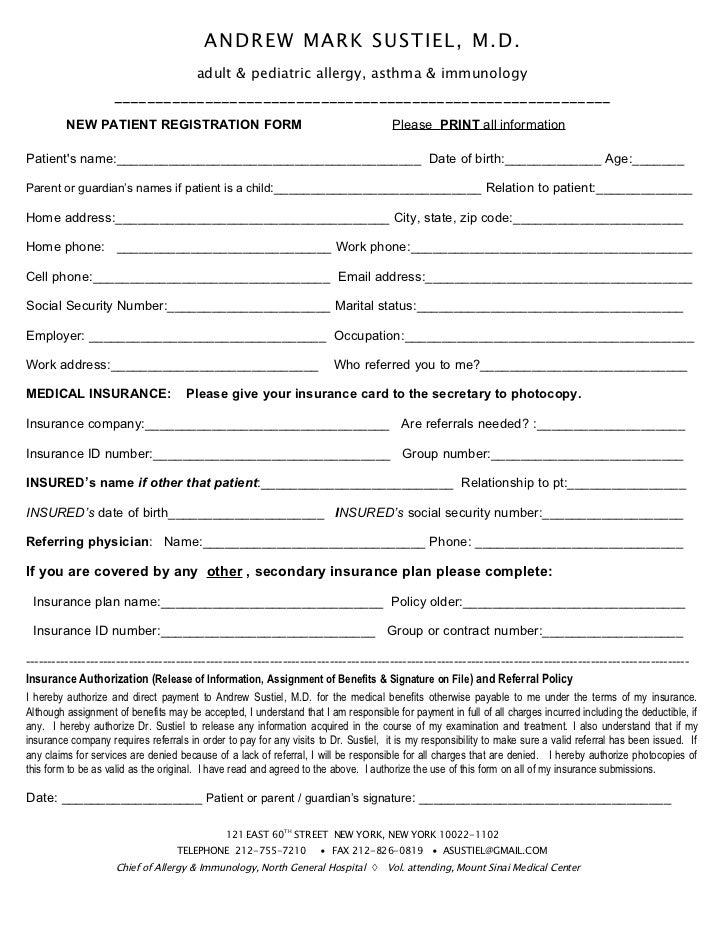 New pt reg & questionnaire  original pp1-5