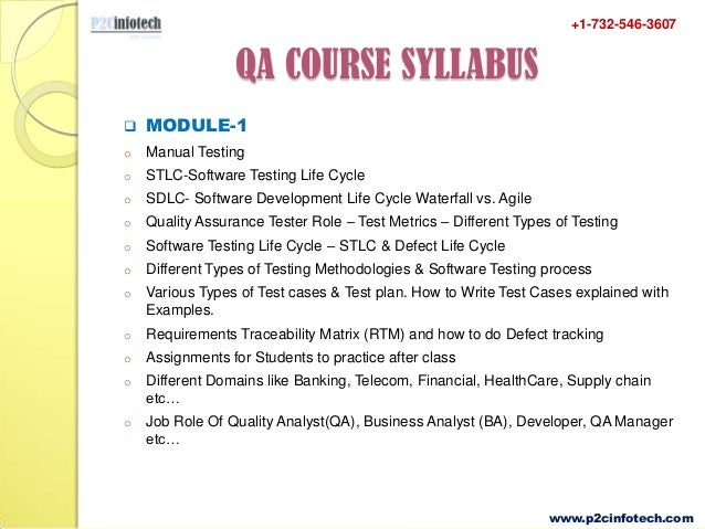qa testing online training and 100 placement assistance in usa rh slideshare net manual testing course syllabus istqb manual testing syllabus