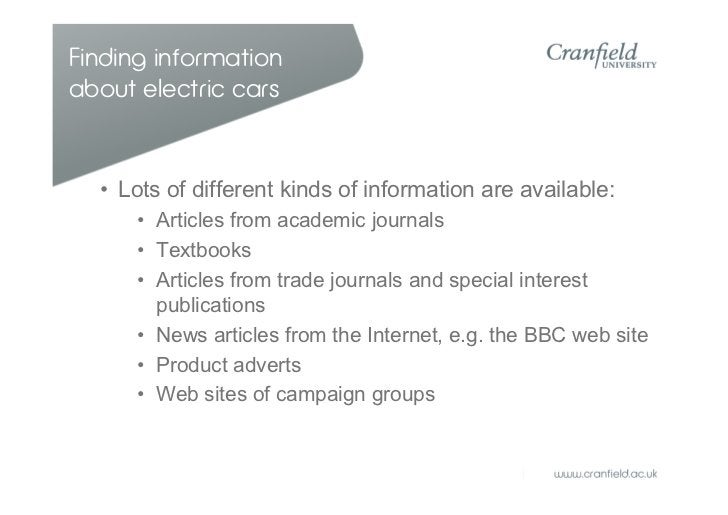 Special interest groups  • Usually written by non-    experts  • Could be biased,    unreliable or vague  • Present their ...