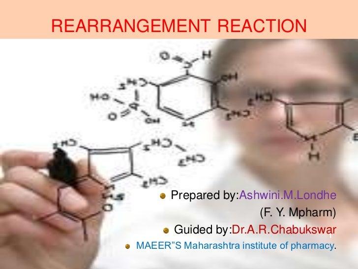 REARRANGEMENT REACTION              Prepared by:Ashwini.M.Londhe                             (F. Y. Mpharm)              G...