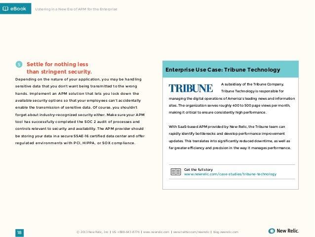 eBook  5  Ushering in a New Era of APM for the Enterprise  Settle for nothing less  Enterprise Use Case: Tribune Technolog...