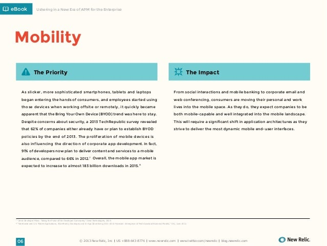 eBook  Ushering in a New Era of APM for the Enterprise  Mobility The Priority  The Impact  As slicker, more sophisticated ...