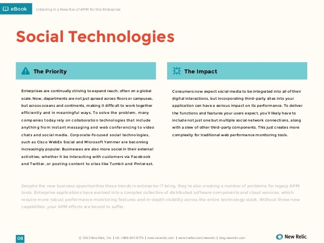 eBook  Ushering in a New Era of APM for the Enterprise  Social Technologies The Priority  The Impact  Enterprises are cont...