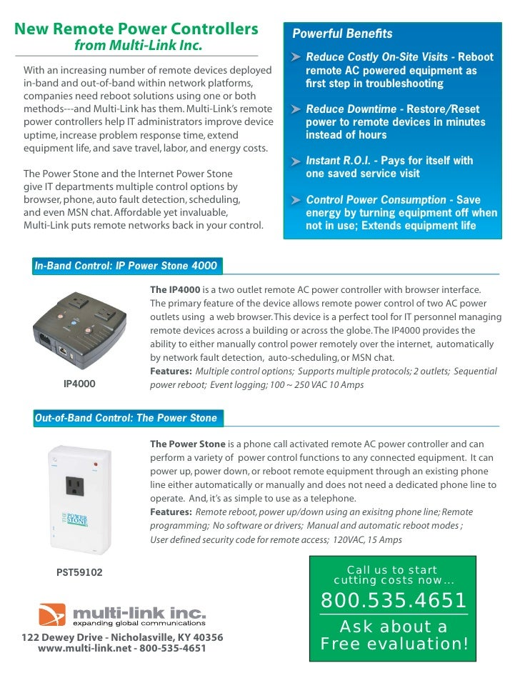 New Remote Power Controllers                                   Powerful Benefits                                           ...