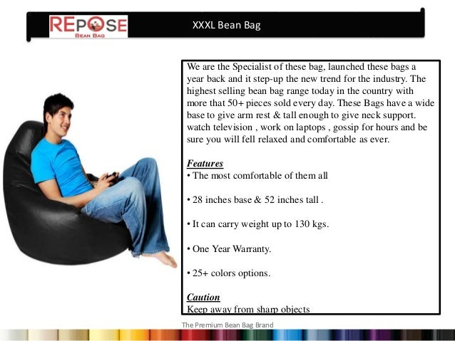 know more about bean bags in india