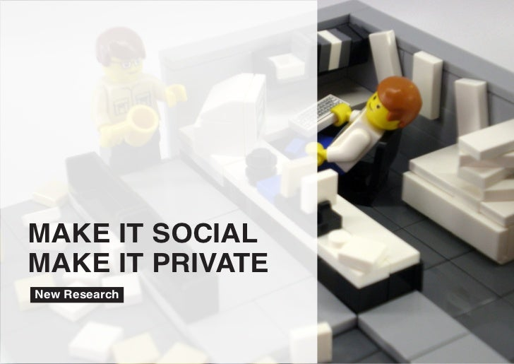 MAKE IT SOCIALMAKE IT PRIVATENew Research