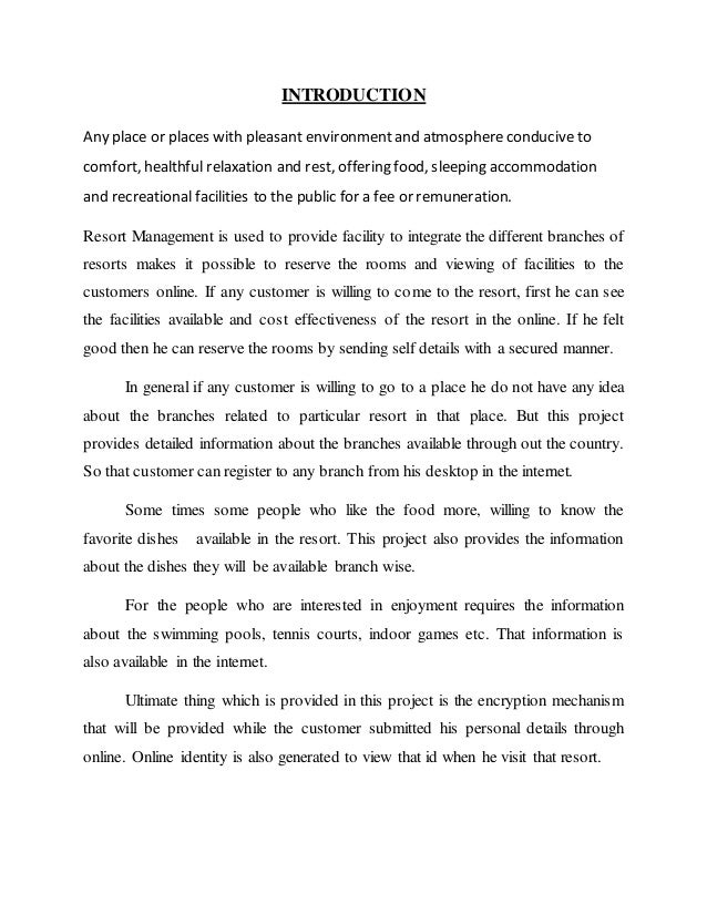 facility reservation system thesis Problems with the current system which were discovered during business studies are time-consuming reservation process, ambiguity view of hotel condition, static content.