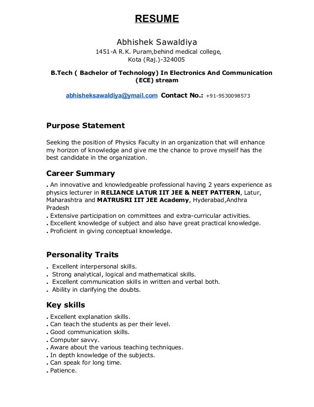 sample resume for physics teacher resume ixiplay free resume samples