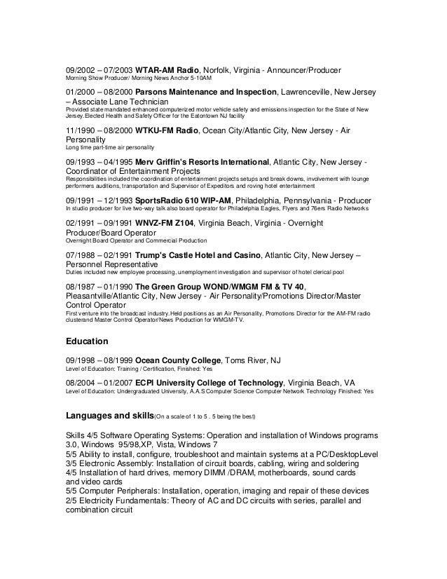 Resume December 2012