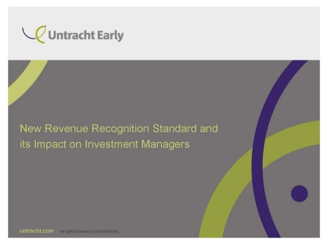 revenue recognition standard and impact on investment managers