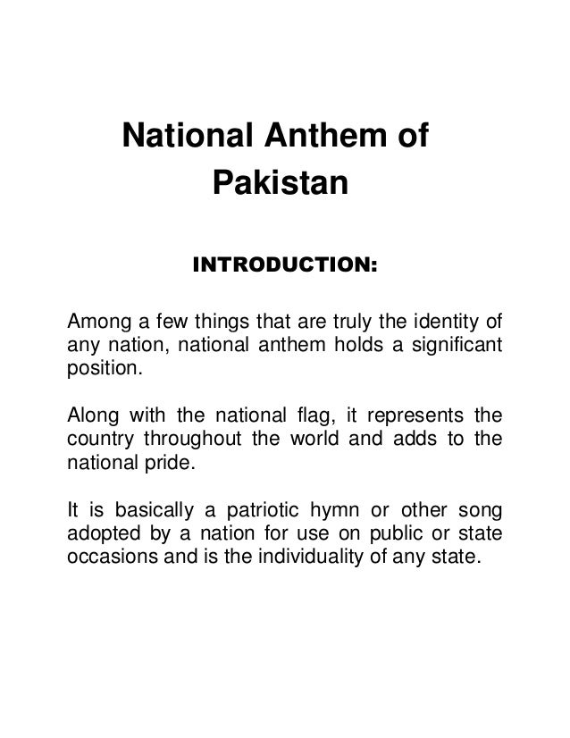 why is the national anthem important