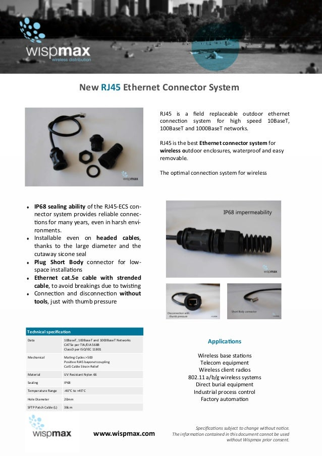 New rj45 connector system - wispmax.com