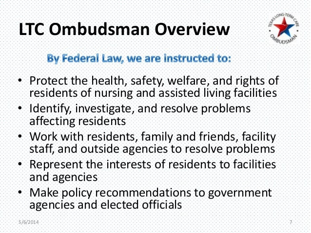Breakout B New Role Of Ombudsman In Assisted Living