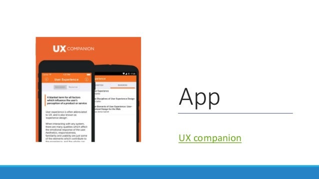 App UX companion