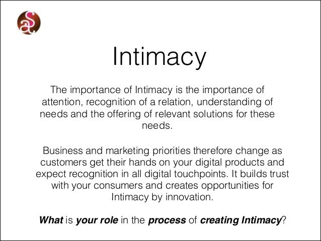 Importance of intimacy for couples
