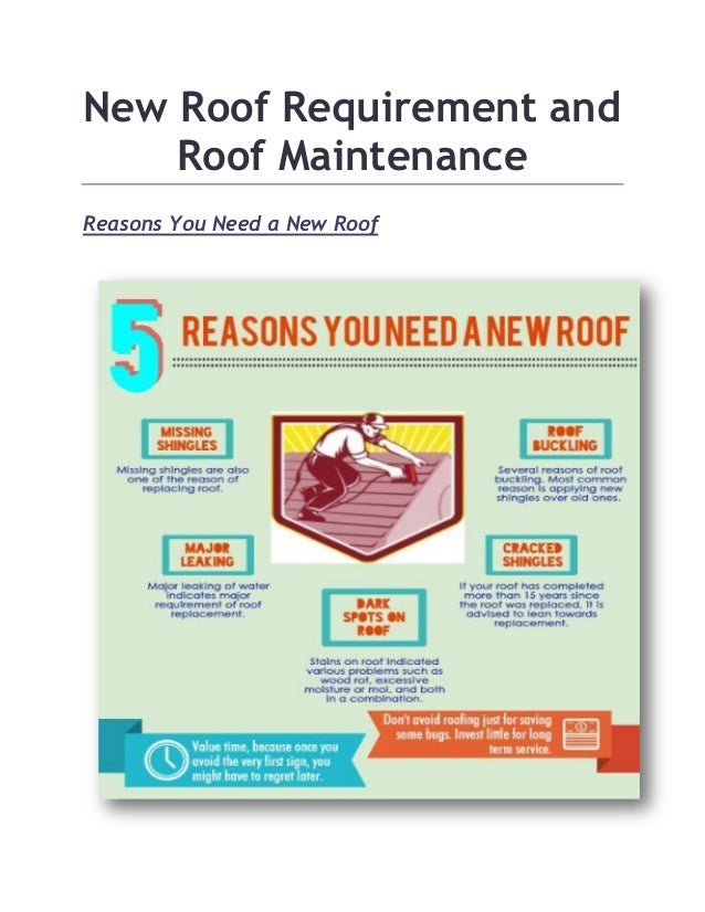 New Roof Requirement And Roof Maintenance