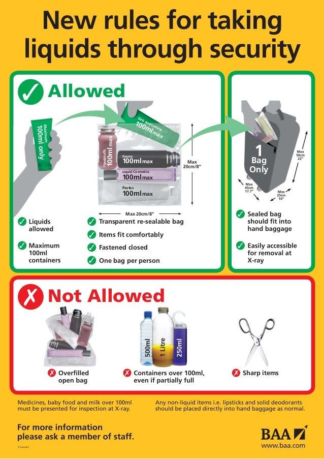 Airport liquid rules