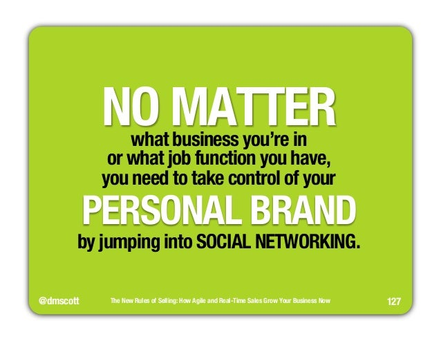 """NO MATTER  what business you're in""""  or what job function you have,""""  you need to take control of your""""  PERSONAL BRAND  b..."""