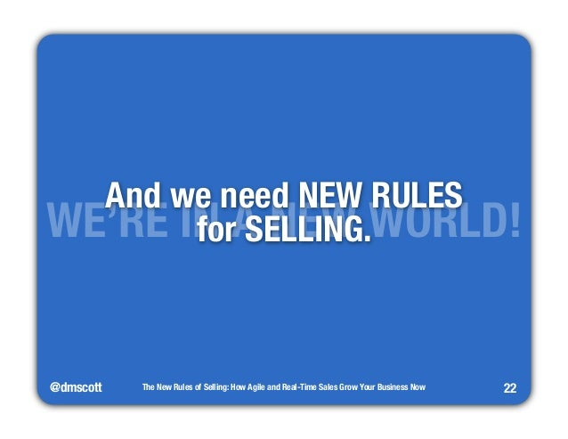 """WEA'RndE wINe nAee Nd ENEWW WRUOLERSL""""D!  @dmscott  The New Rules of Selling: How Agile and Real-Time Sales Grow Your Busi..."""