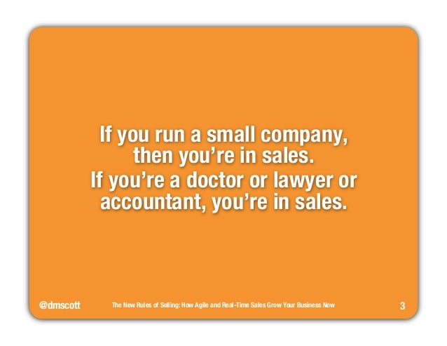 The New Rules of Selling Slide 3