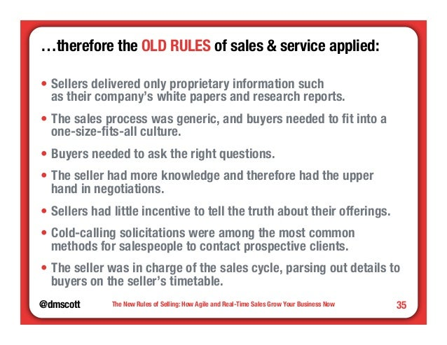 """…therefore the OLD RULES of sales & service applied:""""  • Sellers delivered only proprietary information such""""  as their co..."""