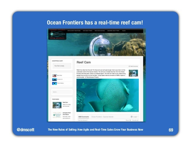 @dmscott  The New Rules of Selling: How Agile and Real-Time Sales Grow Your Business Now  69  Ocean Frontiers has a real-t...