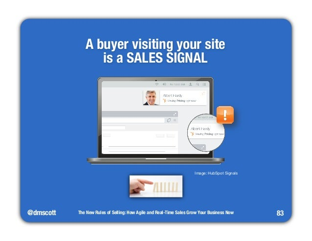 """@dmscott  A buyer visiting your site""""  is a SALES SIGNAL  The New Rules of Selling: How Agile and Real-Time Sales Grow You..."""