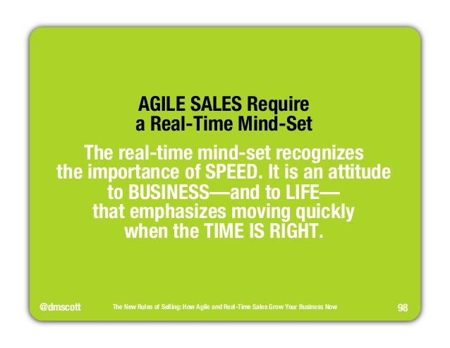 """@dmscott  The New Rules of Selling: How Agile and Real-Time Sales Grow Your Business Now  98  AGILE SALES Require""""  a Real..."""