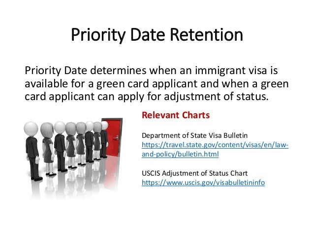 Priority Date Retention Priority Date determines when an immigrant visa is available for a green card applicant and when a...