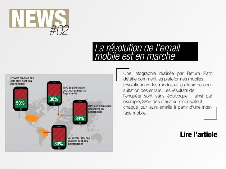 NEWS   #02         La révolution de l'email         mobile est en marche                 Une infographie réalisée par Retu...