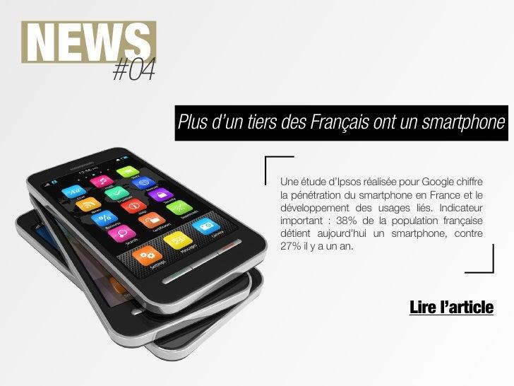 NEWS   #04         Plus d'un tiers des Français ont un smartphone                       Une étude d'Ipsos réalisée pour Go...