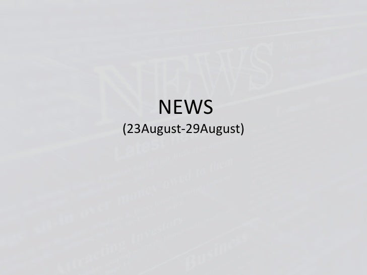 NEWS(23August-29August)<br />