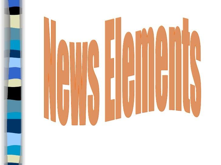 News Elements
