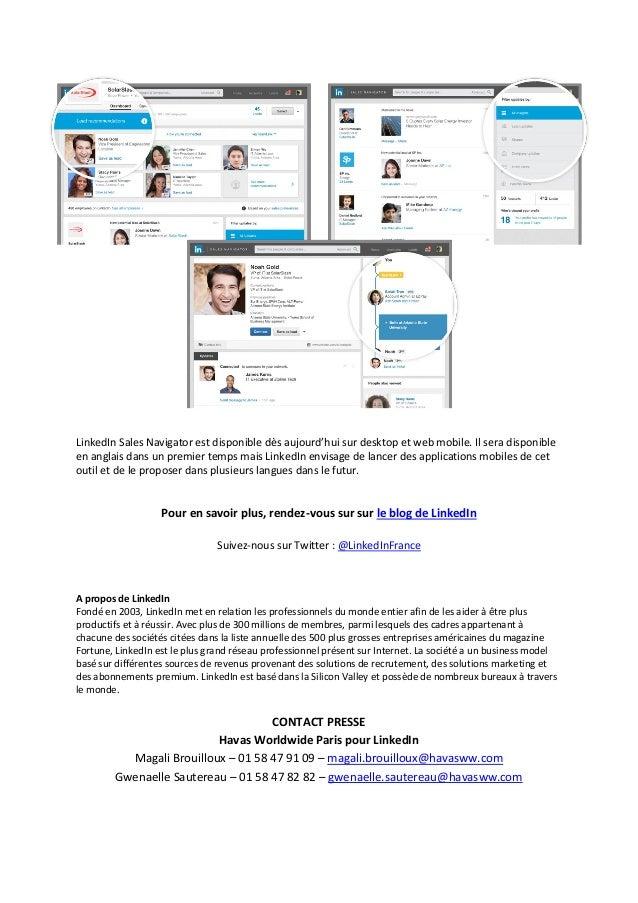 News Linkedin Lance Sales Navigator Et Repense Le Metier
