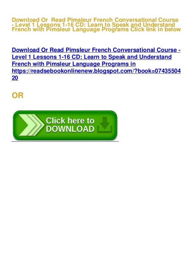 Level 1 Lessons 1-8 CD Pimsleur French Quick /& Simple Course Learn to Speak and Understand French with Pimsleur Language Programs