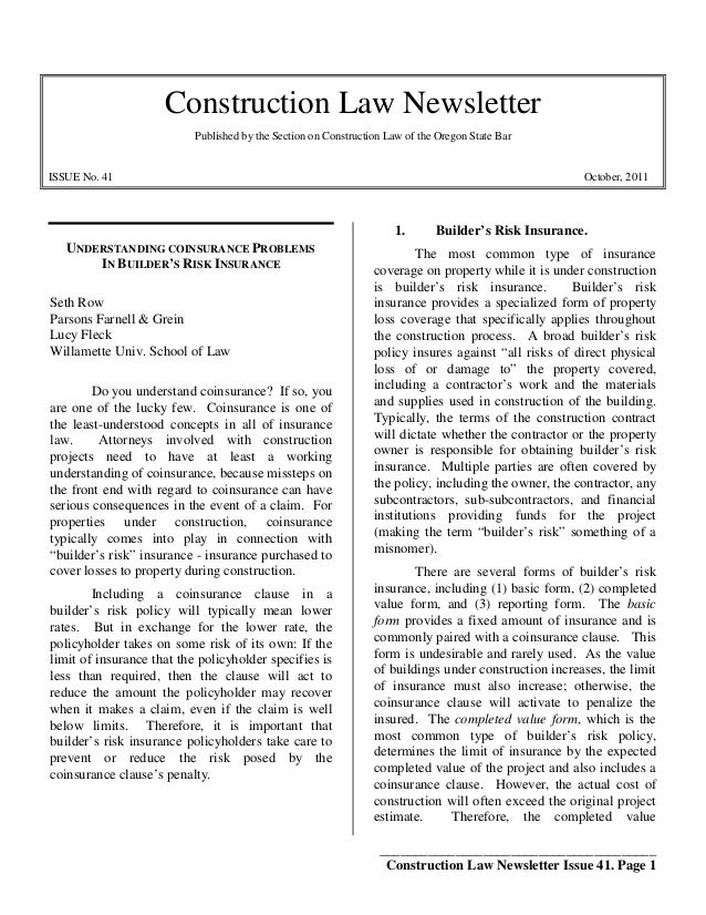 ________________________________________Construction Law Newsletter Issue 41. Page 1Construction Law NewsletterPublished b...