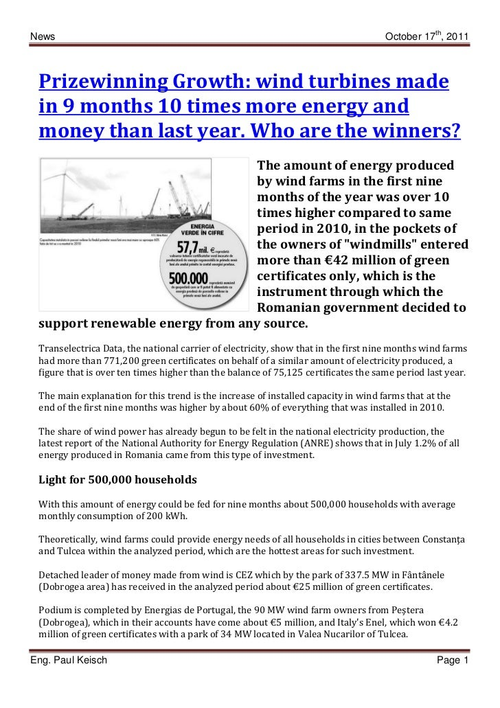 News                                                                                October 17th, 2011 Prizewinning Growth...