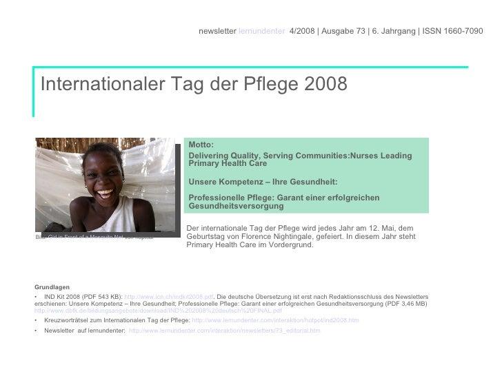 <ul><li>Grundlagen </li></ul><ul><li>IND Kit 2008 (PDF 543 KB):  http://www.icn.ch/indkit2008.pdf . Die deutsche Übersetzu...