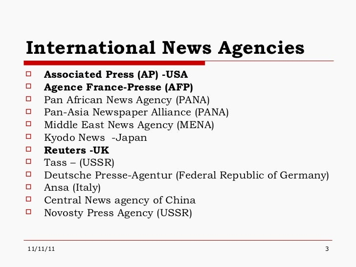 newspaper agencies