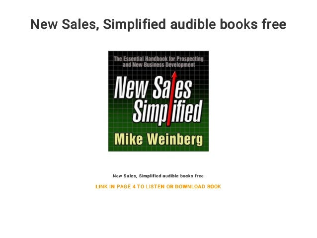 New Sales    Simplified audible books free